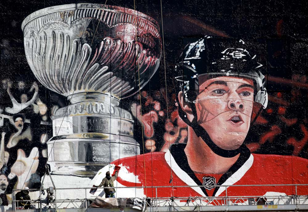 blackhawks mural picture photo